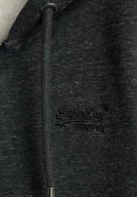 Superdry - ORANGE LABEL - Sweatjacke - black snow heather - 1