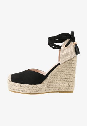 WIDE FIT DORIAN - Platform heels - black