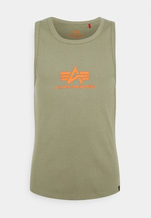LOGO TANK - Top - olive