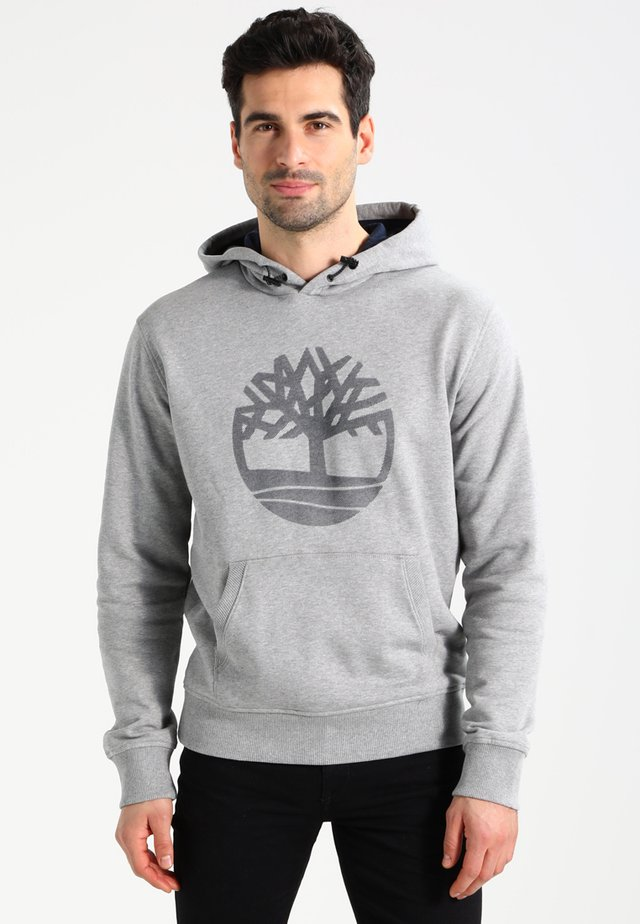 TREE LOGO - Mikina s kapucí - medium grey heather
