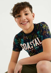 WE Fashion - MET PALMBOOMDESSIN - T-shirt con stampa - multi-coloured - 2