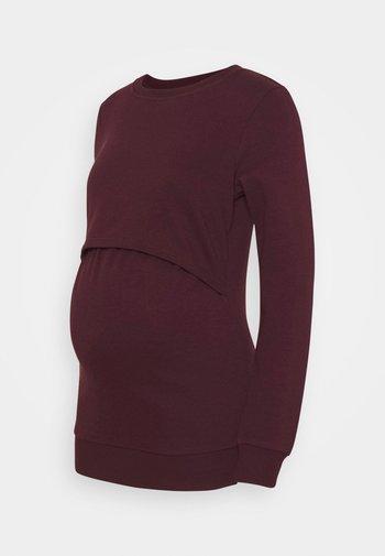 NURSING - Sweatshirt - Bluza - bordeaux
