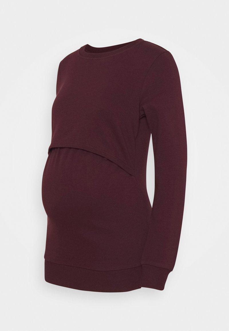 Anna Field MAMA - NURSING - Sweatshirt - Mikina - bordeaux