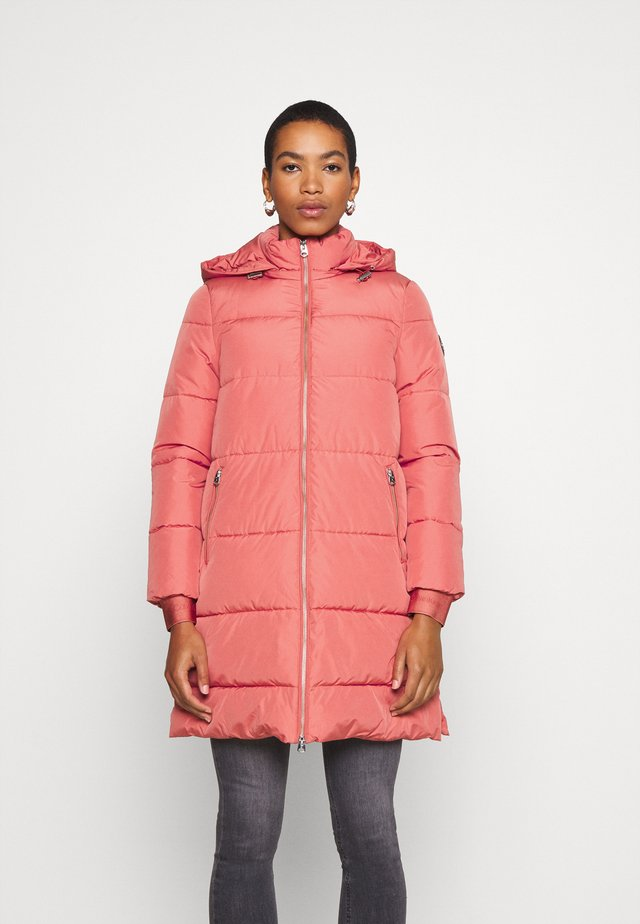 LOGO PUFFER COAT - Zimní kabát - antique pink