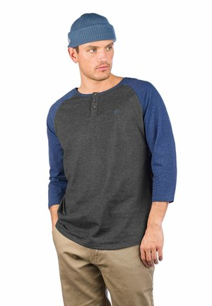 Long sleeved top - charcoal hthr + navy hthr