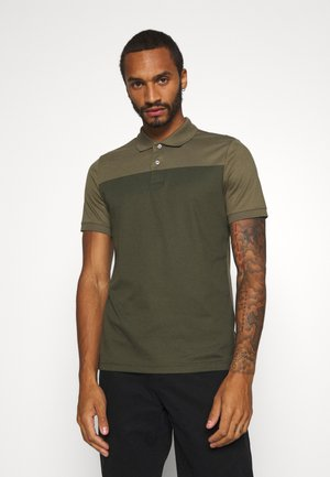 COLOR BLOCK INTERLOCK - Polo shirt - green