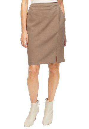 Pencil skirt - brown melange