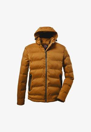 Winter coat - dark curry