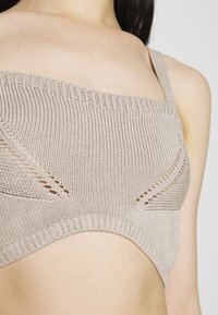 NU-IN - STEFANIE GIESINGER X nu-in WIDE STRAP KNITTED BRALETTE - Top - beige - 4
