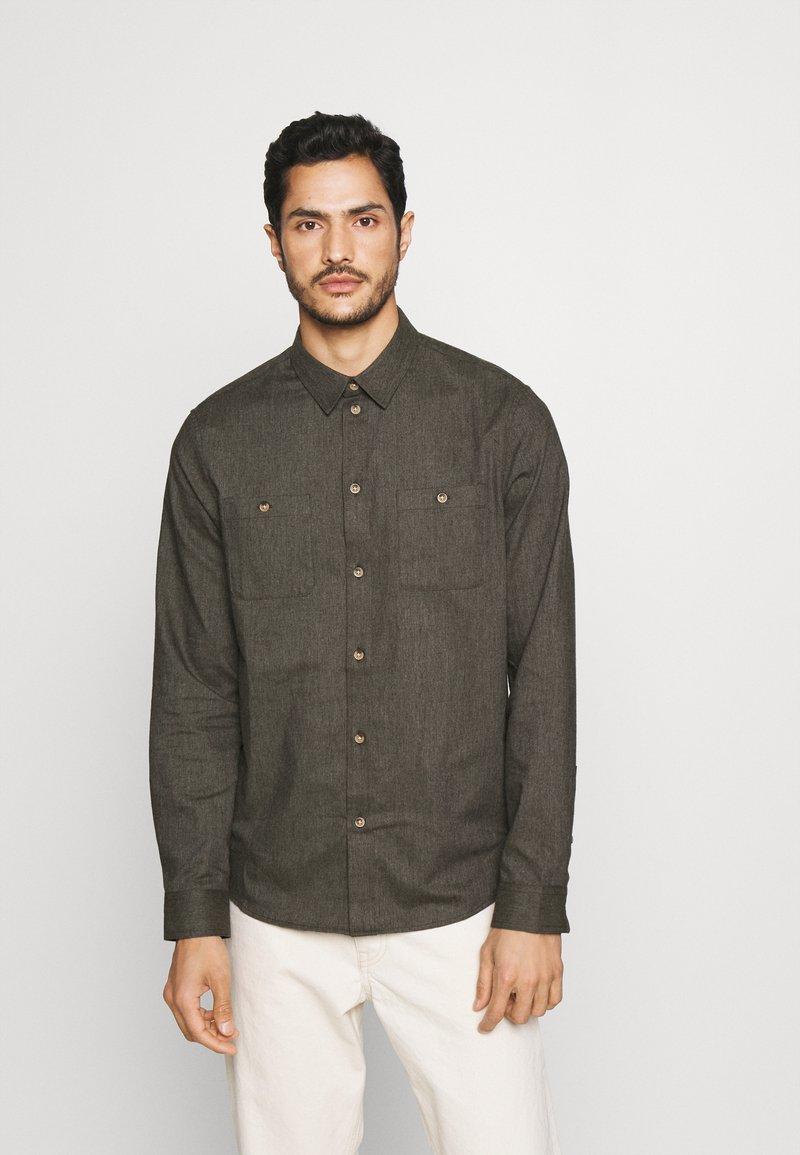 Pier One - Shirt - mottled dark green