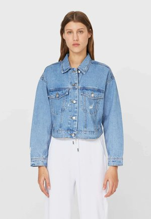 CROPPED-JEANSJACKE  - Denim jacket - blue