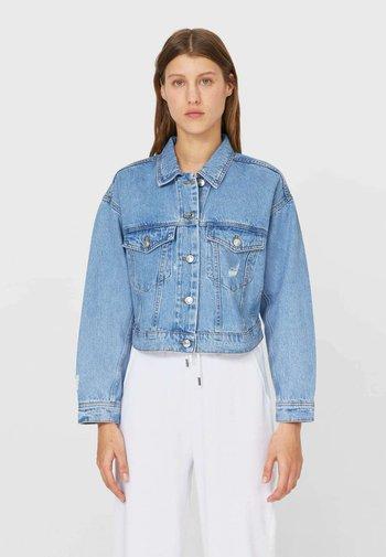 CROPPED-JEANSJACKE  - Denim jacket - blue