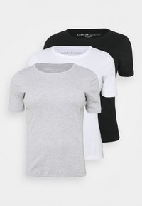 CAPSULE by Simply Be - 3 PACK - T-shirts - black/white/grey - 5
