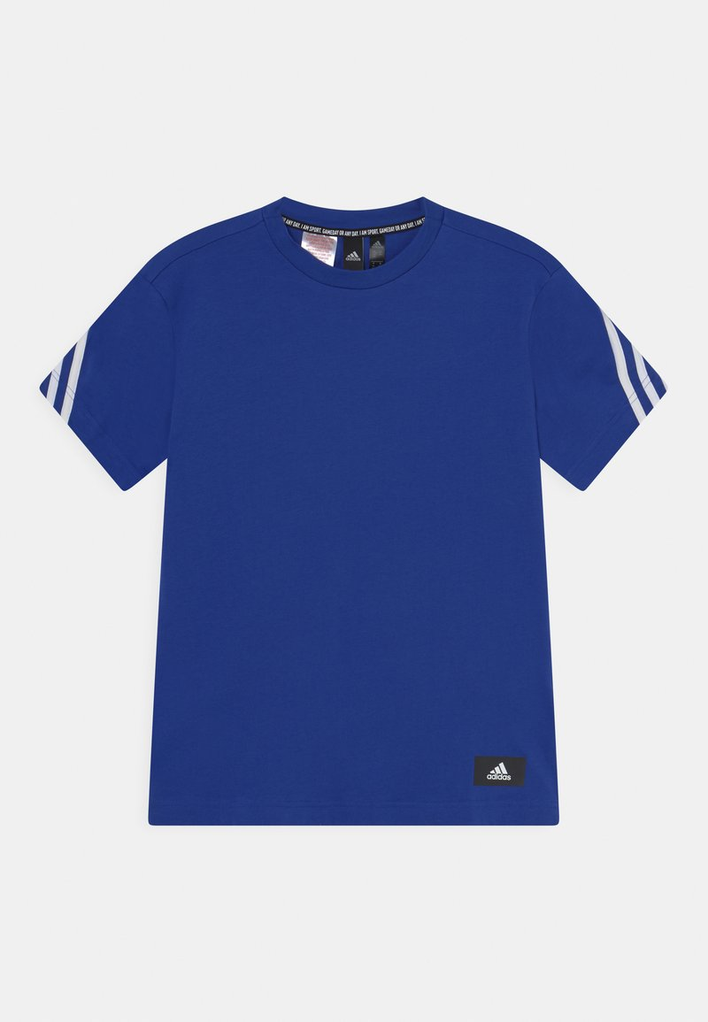 adidas Performance - TEE - T-shirt print - bold blue/white