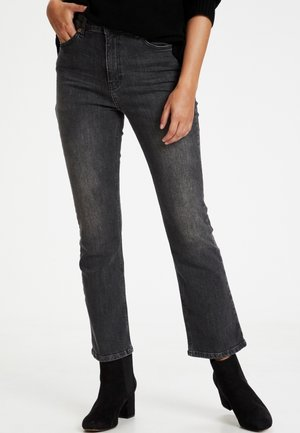 RYANPW JE  - Bootcut jeans - washed black denim