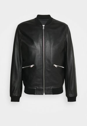 NEW MONACO - Leather jacket - noir