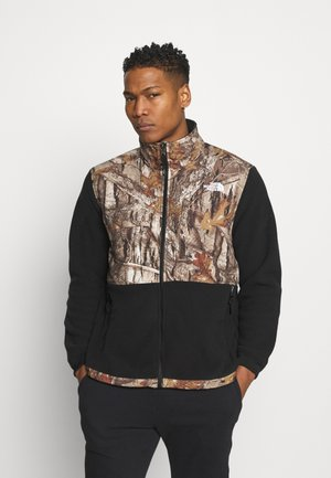 DENALI JACKET - Giacca in pile - black/tan