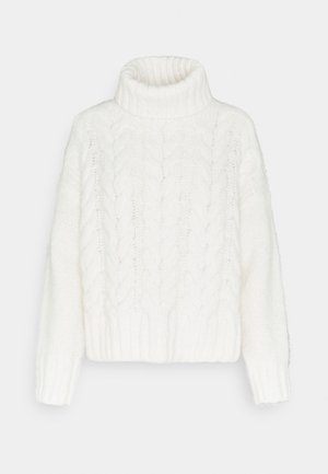ROLL NECK WITH CHUNKY CABLES - Pullover - scandinavian white