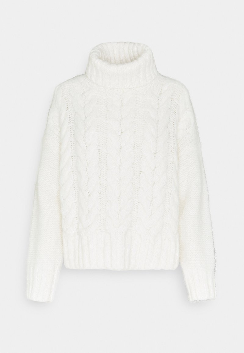 Marc O'Polo DENIM - ROLL NECK WITH CHUNKY CABLES - Jumper - scandinavian white
