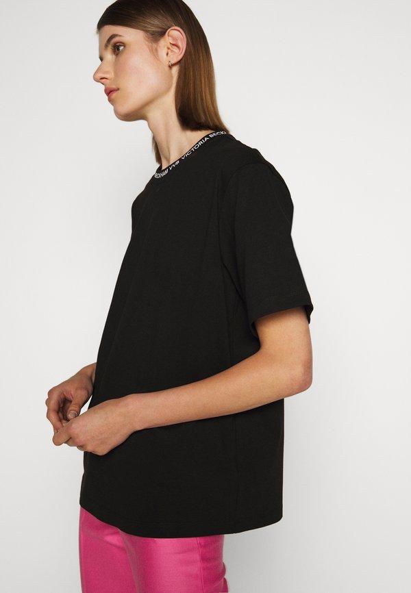 Victoria Victoria Beckham LOGO - T-shirt z nadrukiem - black Nadruk Odzież Damska TSOK HX 2