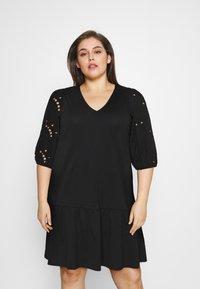 Vero Moda Curve - VMALLARIAS DRESS  - Day dress - black - 0