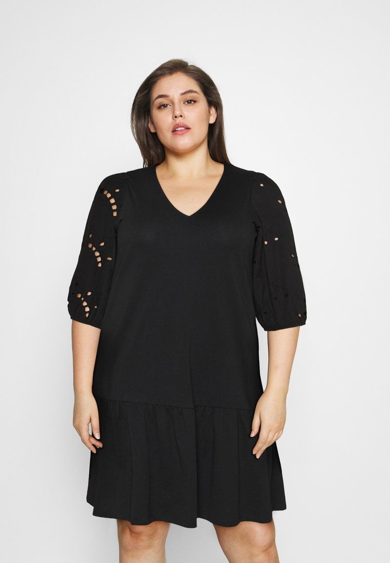 Vero Moda Curve - VMALLARIAS DRESS  - Day dress - black