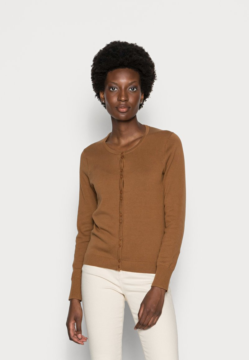 Thought - POLLIE BUTTON FRONT CARDIGAN - Kardigan - toffee brown