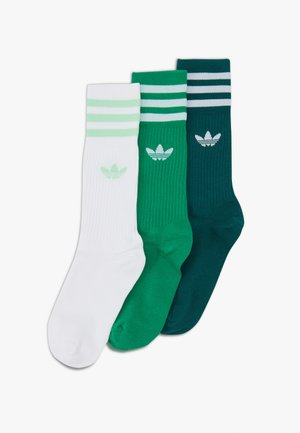 SOLID CREW UNISEX 3 PACK - Socks - white/green