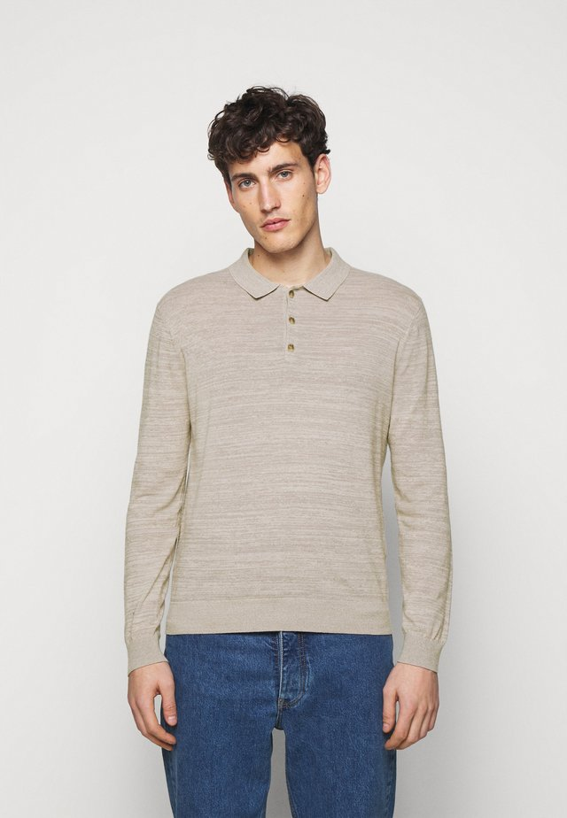 SUMMER POLO - Pullover - taupe