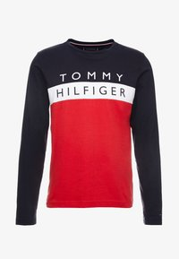Tommy Hilfiger - COLOUR BLOCK LONG SLEEVE TEE - Pitkähihainen paita - red - 4