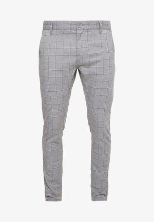STRETCH CHECK - Spodnie materiałowe - grey