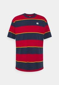 Nike SB - TEE STRIPE UNISEX - Print T-shirt - midnight navy - 0
