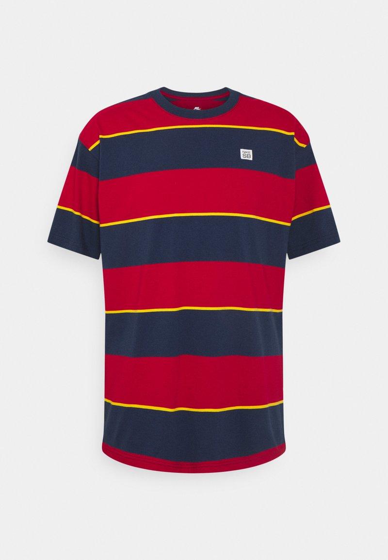 Nike SB - TEE STRIPE UNISEX - Print T-shirt - midnight navy