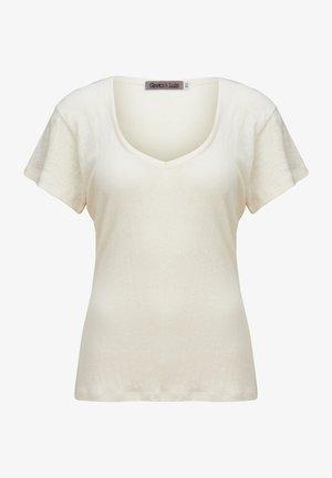 CIARA - Basic T-shirt - elfenbein