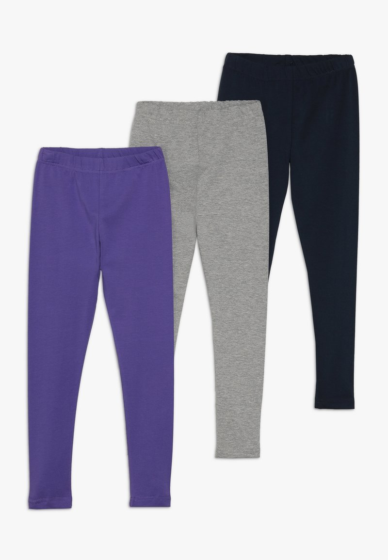 Friboo - 3 PACK - Leggings - navy blazer/grey marl/black