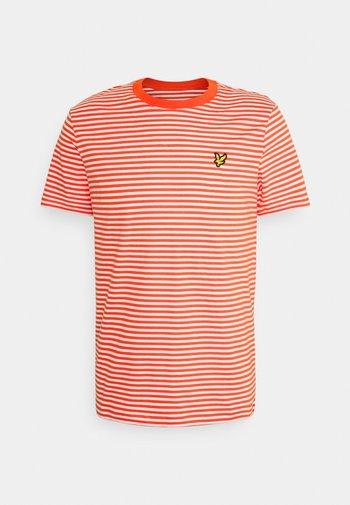 COLOUR STRIPE - T-shirt med print - burnt sienna