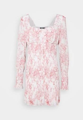 MILKMAID SHIRRED MINI PORCEL - Day dress - pink