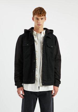 Kurtka jeansowa - metallic black