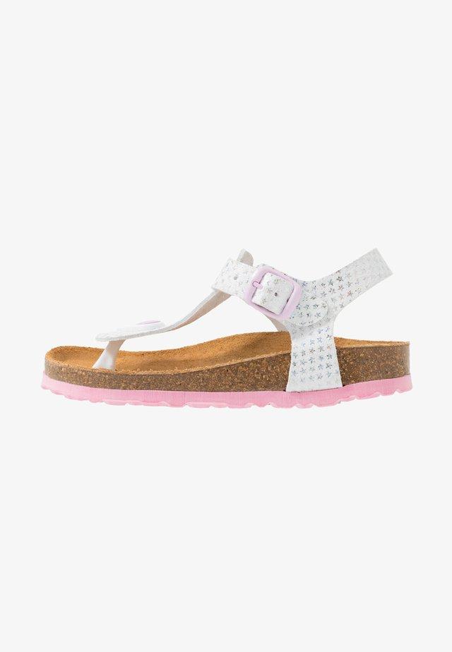 BIOLINE STARPRINT - Sandalias de dedo - weiss/rosa