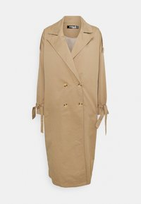 TIE SLEEVE DOUBLE BREASTED  - Trenssi - camel