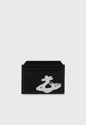 MELIH SLIM CARD HOLDER UNISEX - Business card holder - black/white