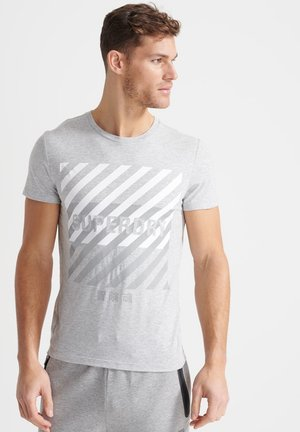 TRAINING CORESPORT GRAPHIC - Print T-shirt - grey marl