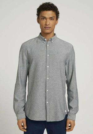 Camisa - navy off white twill