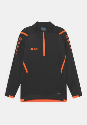 ZIPTOP CHALLENGE UNISEX - T-shirt à manches longues - schwarz/neon orange