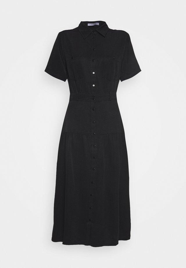 LE MODE MIDI DRESS - Košilové šaty - black