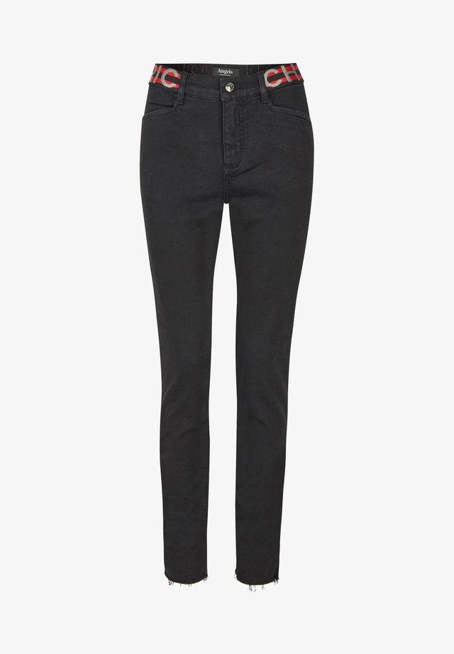 MIT ELASTISCHEM BUND - Jeans Skinny Fit - schwarz