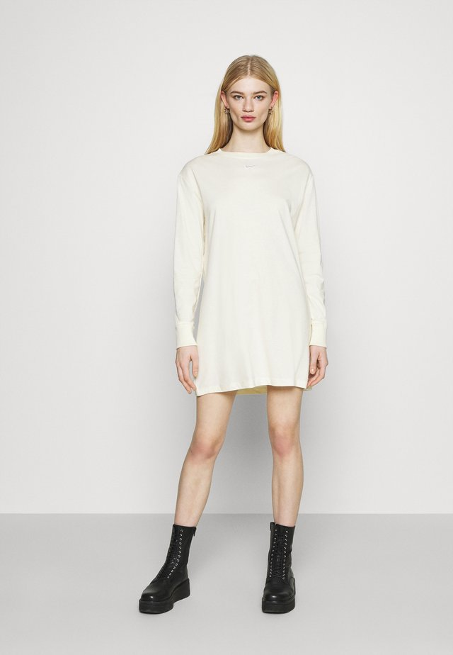 DRESS - Jerseyjurk - coconut milk/white
