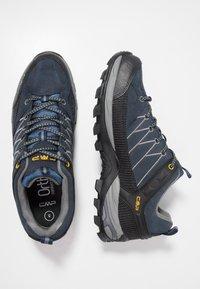 CMP - RIGEL LOW TREKKING SHOES WP - Hiking shoes - blue/graffite - 1