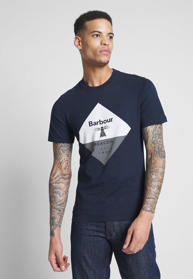 DIAMOND TEE - T-shirt z nadrukiem - navy