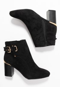 Dorothy Perkins - APPLE GOLD DETAIL BASIC - Botines bajos - black